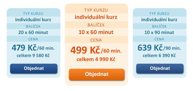 Výhodné cenové balíčky pro Individuální jazykové kurzy se zaměřením na cestování